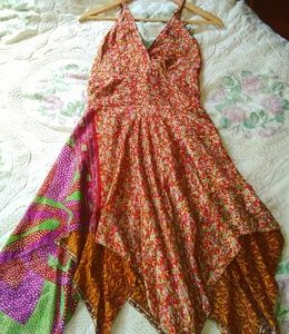 Pixie hippie silk dress India Boutique